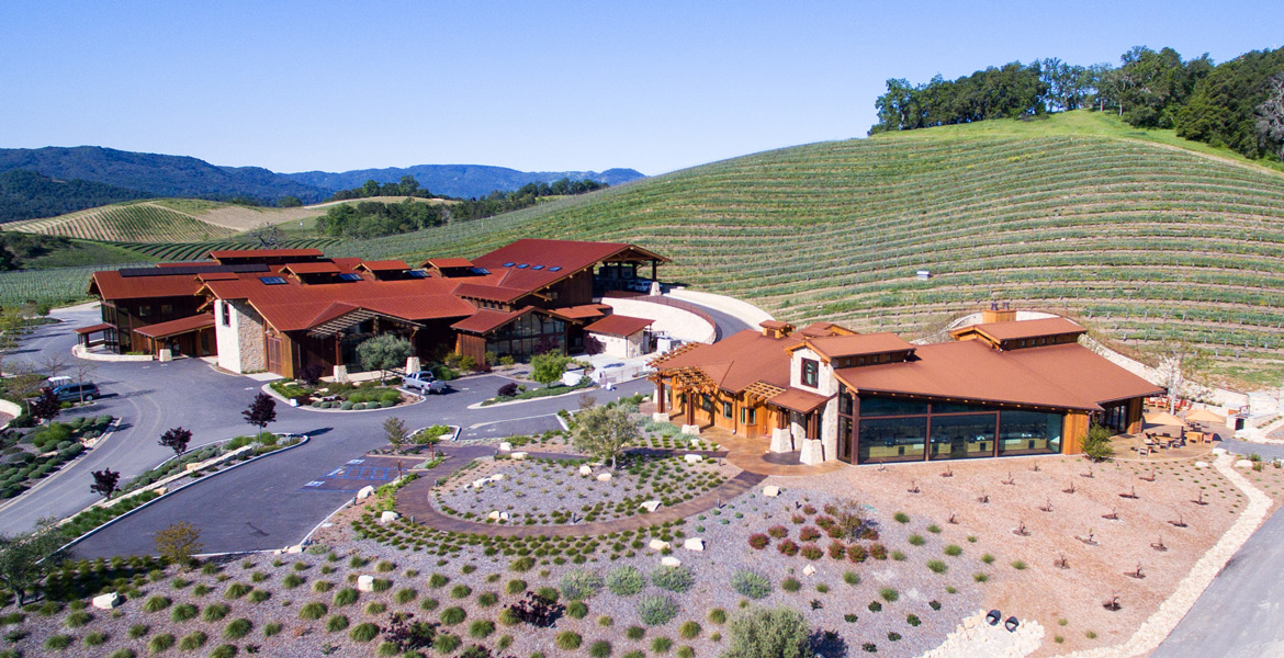 Paso Robles Halter Ranch Winery and Tasting Room Drone Photography - Studio 101 West Photography