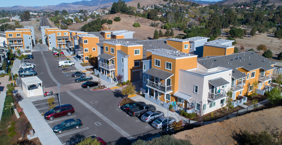 San Luis Obispo Moylan Terrace Residential Real Estate Drone Photography - Studio 101 West Photography
