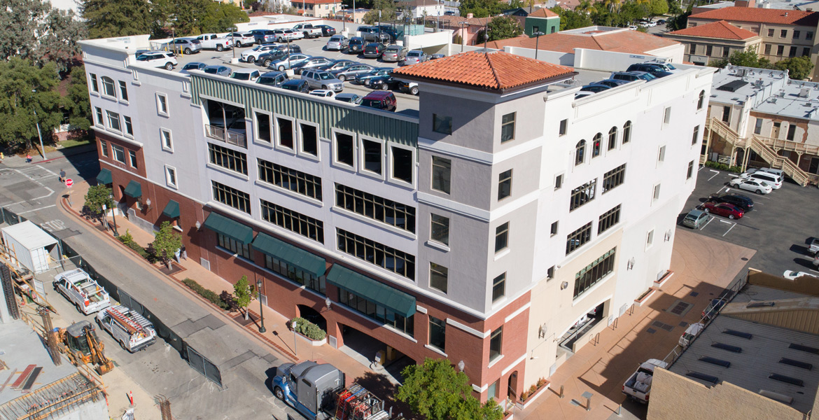 San Luis Obispo Parking Structure Aerial Drone Photography - Studio 101 West Photography