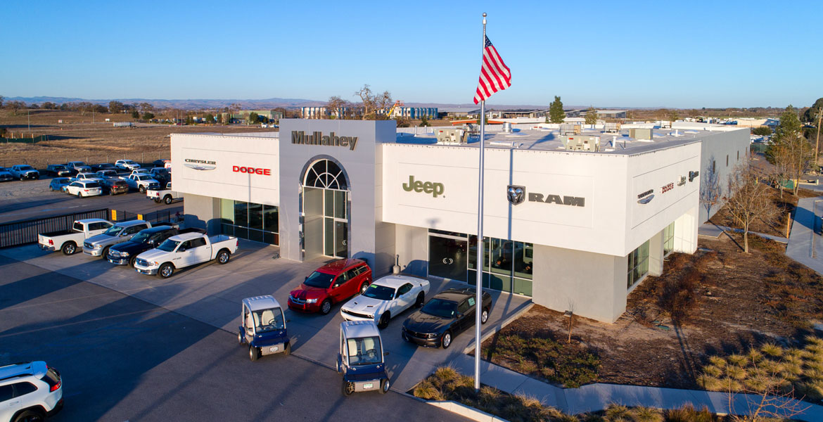 Paso Robles Mullahey Car Dealership Drone Photography - Studio 101 West Photography