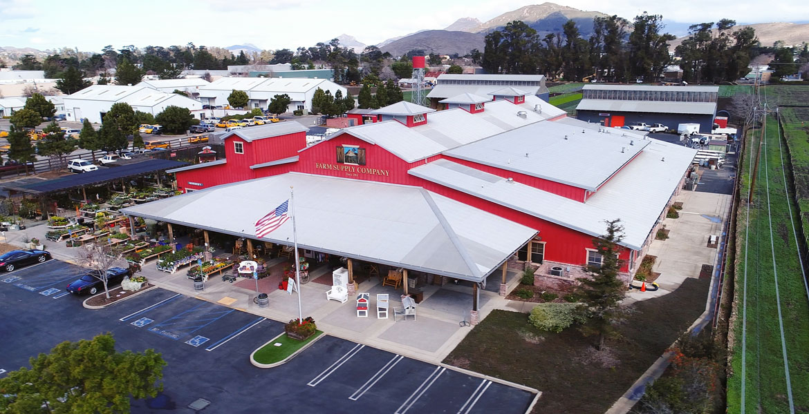 Farm Supply San Luis Obispo Aerial Drone Photography - Studio 101 West Photography