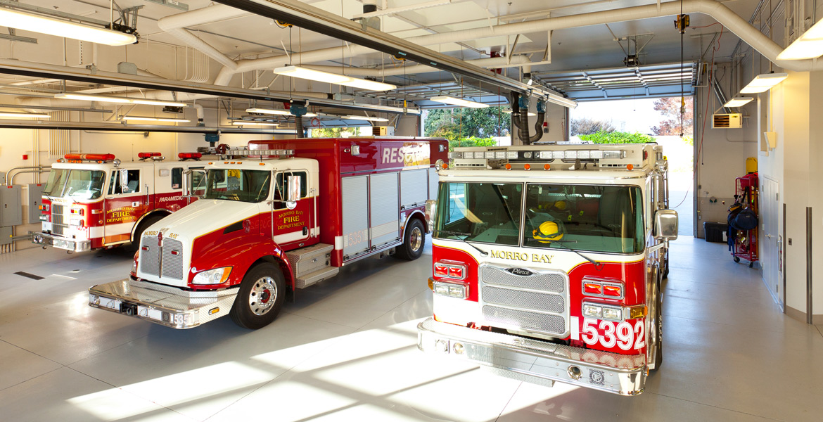 Morro Bay Fire Station Building Photography - Architectural Photographer - Studio 101 West Photography